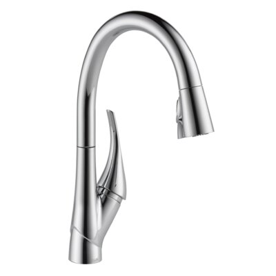 Esque Pull Down Touch Single Handle Kitchen Faucet Finish: Chrome