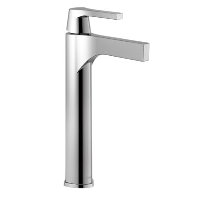 Zura Single Handle Vessel Bathroom Faucet Finish: Chrome