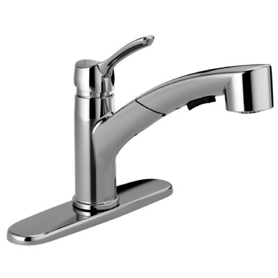 Collins Single Handle Pull Out Kitchen Faucet Finish: Chrome