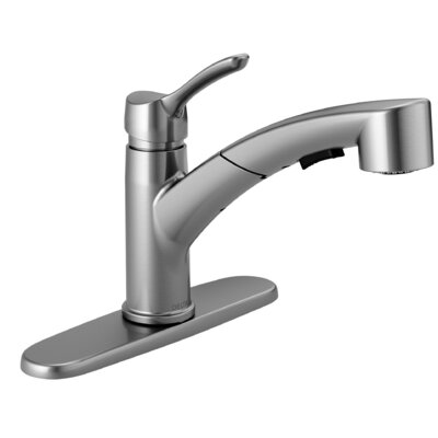 Collins Single Handle Pull Out Kitchen Faucet Finish: Arctic Stainless
