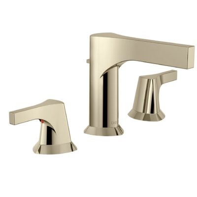 Zura Double Handle Widespread Bathroom Faucet with Drain Assembly Finish: Polished Nickel