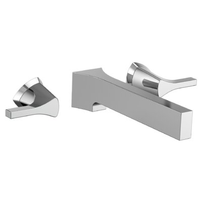 Zura Double Handle Wall Mount Bathroom Faucet Finish: Chrome