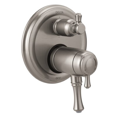 Cassidy Thermostatic 17T Series Valve Trim with Double Handle Finish: Stainless