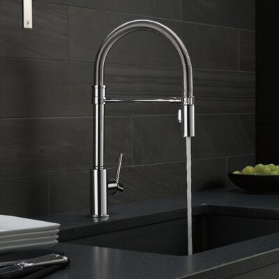 Trinsic Single Handle Pull Down Kitchen Faucet with Spring Spout Finish: Chrome