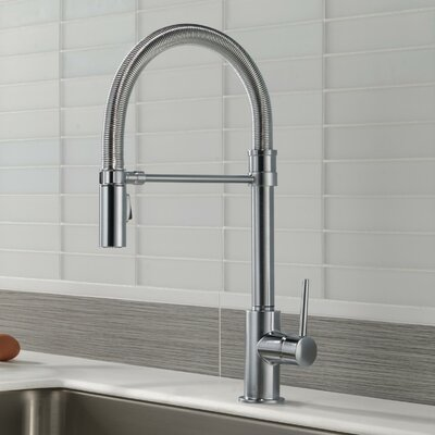 Trinsic Pull Down Single Handle Kitchen Faucet Finish: Arctic Stainless