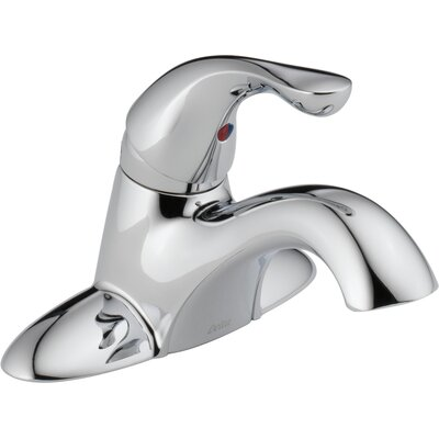 Centerset Single Handle Bathroom Faucet with Drain Assembly and Diamond Seal Technology