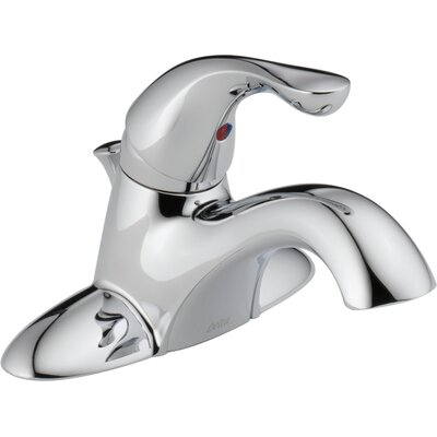 Classic Standard Bathroom Faucet Lever Handle with Drain Assembly Finish: Chrome