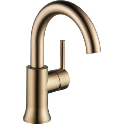 Trinsic� Bathroom Single hole Single Handle Bathroom Faucet with Drain Assembly and Diamond Seal Technology Finish: Brilliance Champagne Bronze