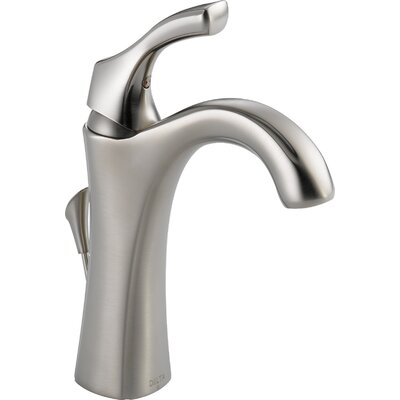 Addison Single Hole Bathroom Faucet with Diamond Seal Technology with Metal Pop-Up Drain Finish: Brilliance Stainless