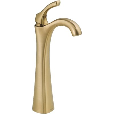 Addison Single Hole Sink Bathroom Faucet with Single Handle and Diamond Seal Technology Finish: Brilliance Champagne Bronze