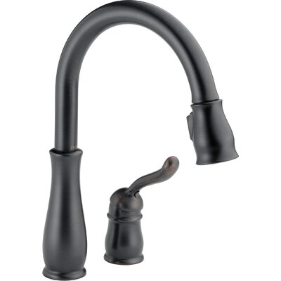 Leland Single Handle Pull Down Standard Kitchen Faucet Finish: Venetian Bronze, Flow Rate: 1.8 GPM