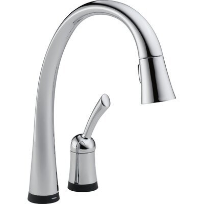 Pilar Single Handle Standard Kitchen Faucet with Touch Technology Finish: Chrome, Soap Dispenser: Without Soap Dispenser