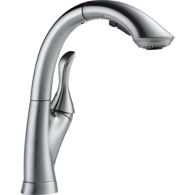 Linden Pull Down Touch Single Handle Kitchen Faucet Finish: Arctic Stainless