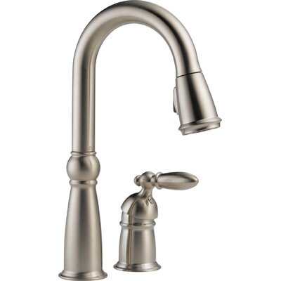 Victorian Pull Down Single Handle Kitchen Faucet Finish: Brilliance Stainless
