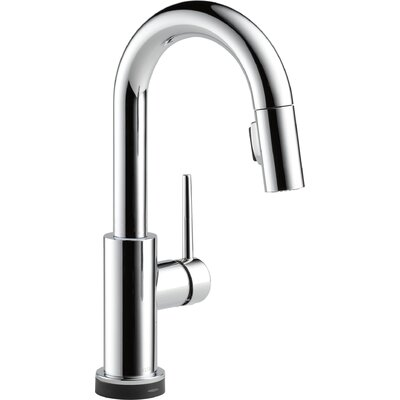 Trinsic Kitchen Touchless Single Handle Pull Down Bar Faucet Finish: Chrome