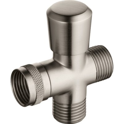 Universal Showering Components Shower Arm Diverter Valve Finish: Brilliance Stainless