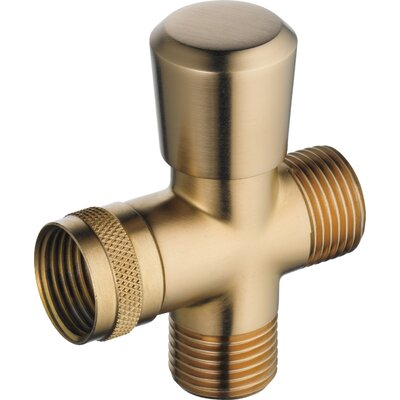 Universal Showering Components Shower Arm Diverter Valve Finish: Brilliance Champagne Bronze