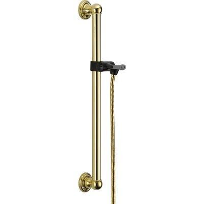 Universal Showering Components Adjustable Grab Bar Finish: Brilliance Polished Brass