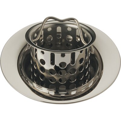 Bar Prep Sink Flange and Basket Strainer Stopper Flange Finish: Brilliance Polished Nickel