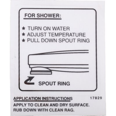 Wall decal for Pull-down Spout Operation