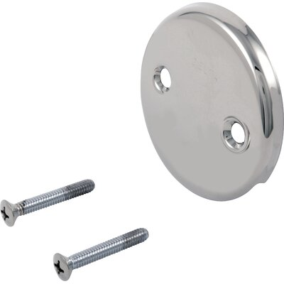 Classic Overflow Plate and Screw Finish: Chrome