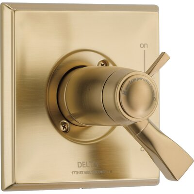 Dryden Thermostatic Tub and Shower Faucet Lever Finish: Brilliance Champagne Bronze
