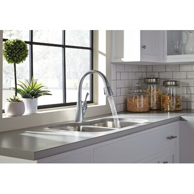 Allora Pull Down Touch Single Handle Kitchen Faucet Finish: Arctic Stainless, Soap Dispenser: No