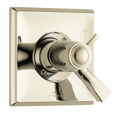 Dryden Thermostatic Tub and Shower Faucet Lever Finish: Brilliance Polished Nickel
