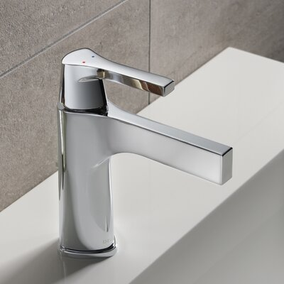 Zura Single Hole Single Handle Bathroom Faucet with Drain Assembly Finish: Chrome