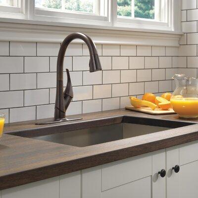 Esque Single Handle Pull Down Kitchen Faucet Finish: Venetian Bronze