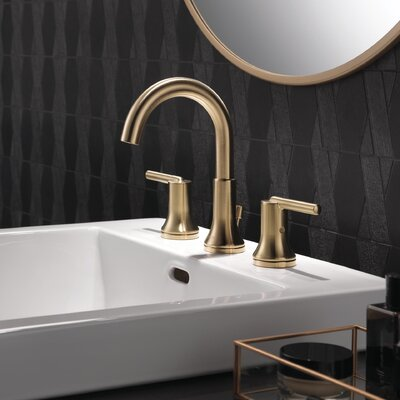 Trinsic Bathroom Standard Faucet Lever Handle Bathroom Faucet with Drain Assembly Finish: Brilliance Champagne Bronze