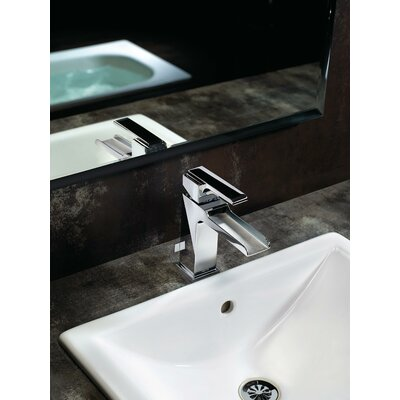 Ara Single Handle Centerset Lavatory Faucet with Channel Spout and Pop-Up Drain Finish: Chrome