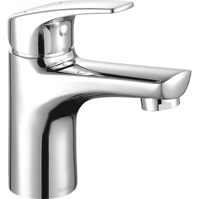 Project-Pack Single Handle Bathroom Faucet with Drain Assembly Flow Rate: 0.5 GPM