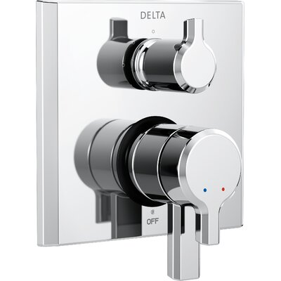 Pivotal Monitor 17 Series Double Handle Valve Trim with 3-Setting Diverter Finish: Chrome