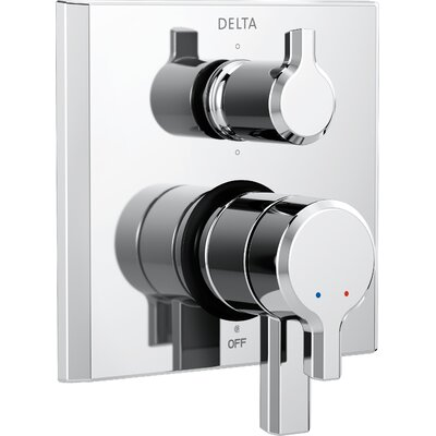 Pivotal Monitor 17 Series Double Handle Valve Trim with 6-Setting Diverter Finish: Chrome