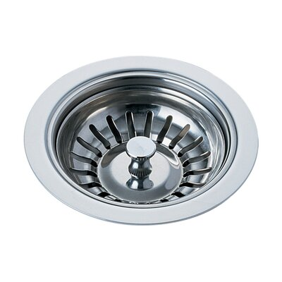 Kitchen Sink Flange and Basket Strainer Stopper Flange Finish: Chrome