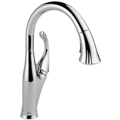 Addison Single Handle Pull Down Standard Kitchen Faucet Finish: Chrome