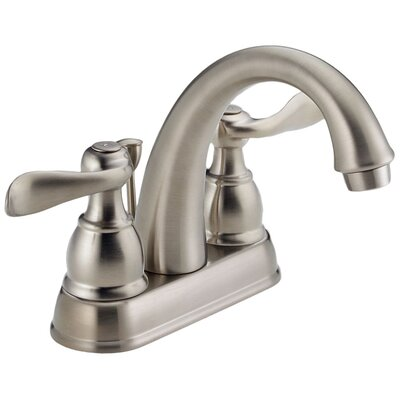 Windemere Centerset Bathroom Faucet with Metal Pop-Up Drain Finish: Brilliance Stainless