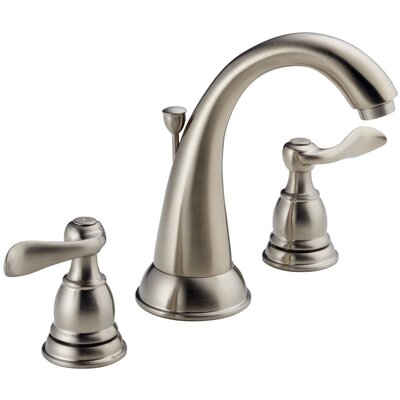 Windemere Widespread Double Handle Bathroom Faucet with Drain Assembly Finish: Brilliance Stainless