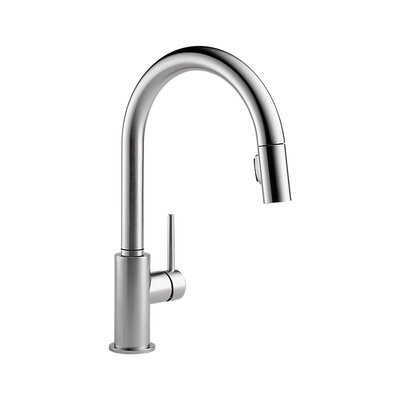 Trinsic Kitchen 15 Single Handle Pull Down Standard Kitchen Faucet Finish: Arctic Stainless