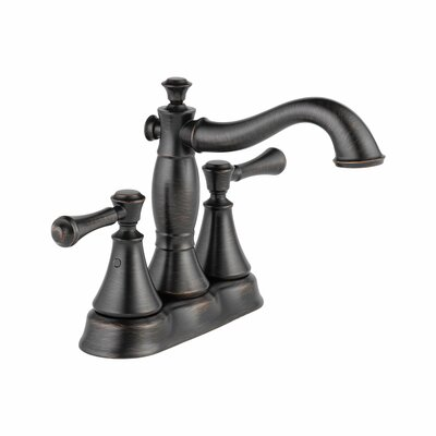 Cassidy Double Handle Centerset Bathroom Faucet with Metal Pop-Up Finish: Venetian Bronze