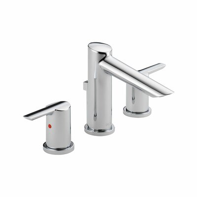 Compel Widespread Double Handle Bathroom Faucet and Diamond Seal Technology Finish: Chrome