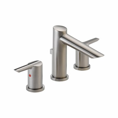 Compel Widespread Double Handle Bathroom Faucet and Diamond Seal Technology Finish: Brilliance Stainless