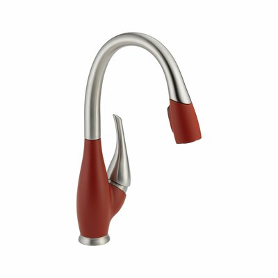 Fuse Hot & Cold Water Dispenser with Magnetic Spray Finish: Stainless and Chili Pepper