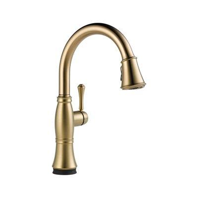 Cassidy Pull Down Touch Single Handle Kitchen Faucet with LED Light Finish: Brilliance Champagne Bronze