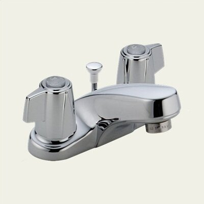 Classic Centerset Bathroom Faucet with Double Lever Handles
