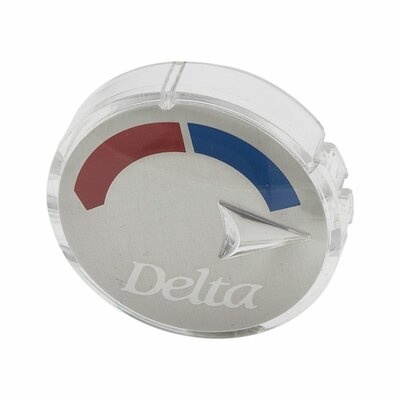 Replacement Arrow Button with Red/Blue Indicator Finish: Chrome