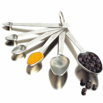 6 Piece Stainless Steel Measuring Spoon Set 8308