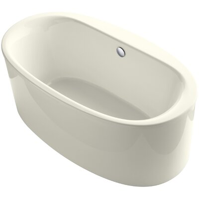 Sunstruck 66 x 36 Freestanding Soaking Bathtub Finish: Biscuit