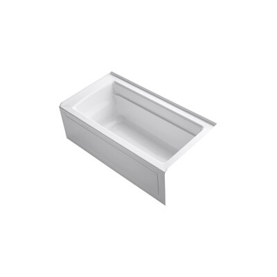 Archer 60 x 32 Soaking Bathtub Finish: White, Drain Location: Right